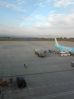 静岡空港で富士山が見えました