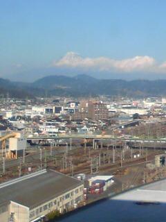 静岡と清水からの富士山です