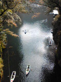 紅葉が始まった高千穂峡