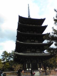 雪のない興福寺