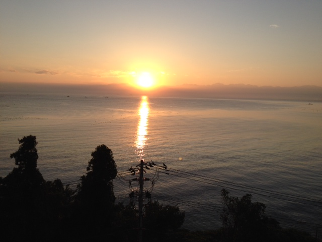 立山連峰からの日の出